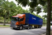 08355-014 Scania P 380 6x2 with curtainside semitrailer