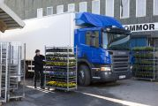 08278-021 Scania P 280 4x2 with temperature-controlled box body, generator driven refrigeration